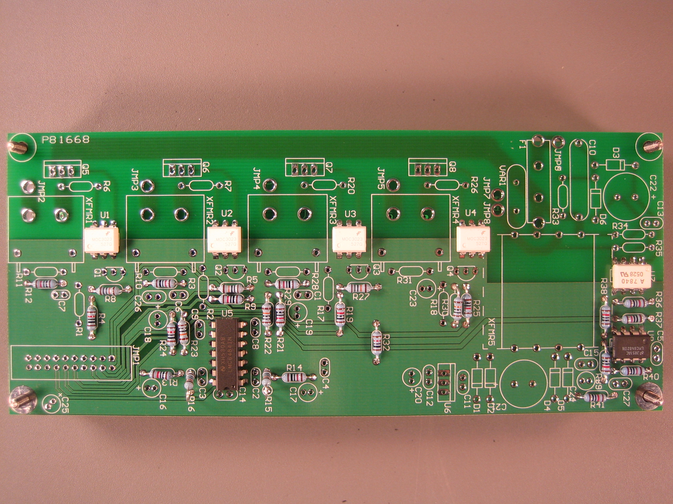 Step By Guide To Building A Plug High Voltage Board Printed Circuit Is Used In Electronics I Use It As Eight 100 Kohm Resistors R8 R9 R15 R16 R22 R23 R27 R30 Warning Two Resistor Labels R5 And Are Switched On The