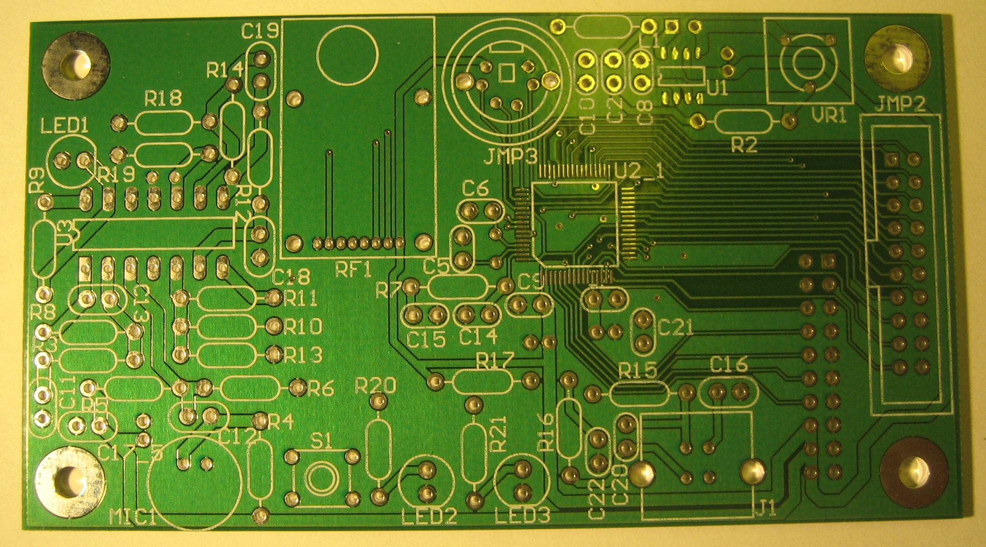 Step By Guide To Building A Plug Low Voltage Board Making Printed Circuit Boards The Top Side Of Before Any Components Have Been Added Use Metal File Make Edges Smooth